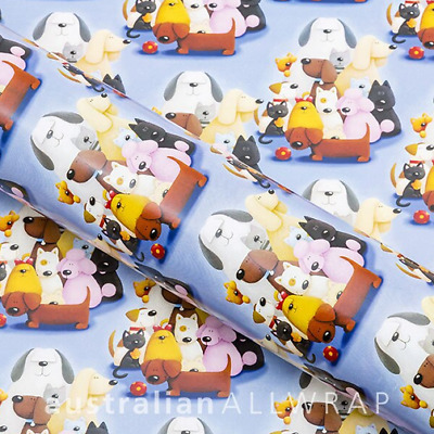 Cartoon Dogs Wrapping paper, Counter roll, Gift wrap, 500mm x 50m