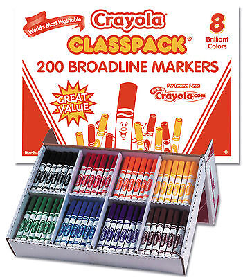 Crayola Classic Washable Markers Classpack-Pack of 200