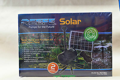 Reefe Solar Pump & Fountain Kit With Solar Panels 1360/lhr