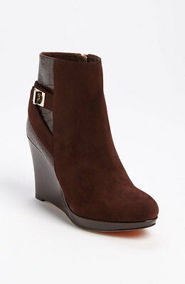 9ca41f8ab6a COLE HAAN Women s Martina Suede Wedge Ankle Boots in Chesnut - Sz 7B ...