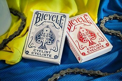 Bicycle Cyclist Red & Blue Playing Cards Set Brand New Sealed