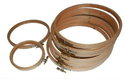 """4"""" 6"""" Round Wooden Needlework Frame Hoop Ring for Cross Stitch Embroidery Sewing"""