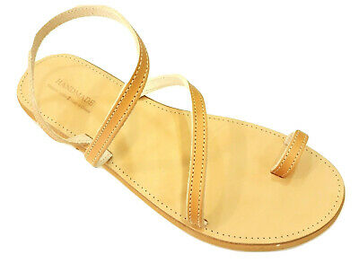 Ancient Greek Womens Sandals Gladiator Roman Handmade Genuine Leather Shoes Size