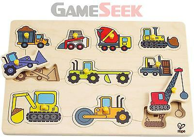 Hape Construction Site Peg Puzzle | Free Delivery Brand New Toys