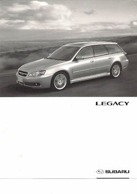 Subaru Legacy Sports Tourer 2004 UK Market Specification Brochure 2.0 2.5 3.0