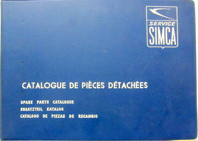 1961-1964  Simca 1000 Catalogue De Pieces Detachees En Multilangues
