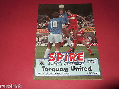 1983/84 Chesterfield V Torquay (1St Sunday League Fixture @ Saltergate)