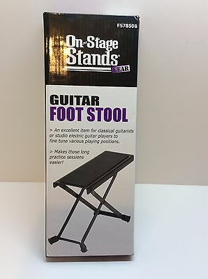 Guitar Foot Stool, On-Stage Brand, Adjustable, Non-Slip, Rubber Feet