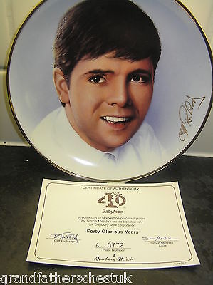 Cliff Richard Collectors Plate 40 Glorious Years Babyface Wth Cert Danbury