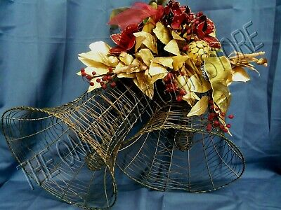 Frontgate Tami Leumg Decorative Wire Bell Christmas Holiday Door Wreath Wedding
