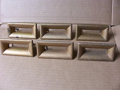 (6) Vintage Drawer Pulls / Handles--Includes Original Screws--Painted--Shabby