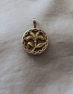 Vintage Antique Victorian Button Set in Sterling Silver for Pendant