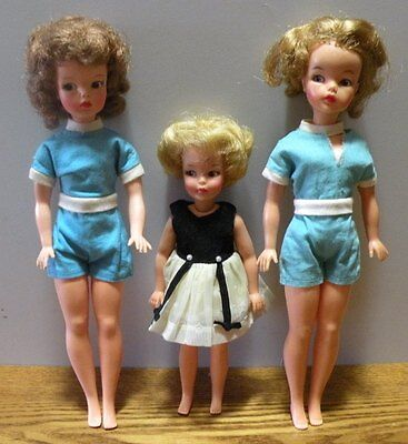 1960's Tammy and Pepper dolls Manufactured by Ideal Toy Corp. 3 dolls together