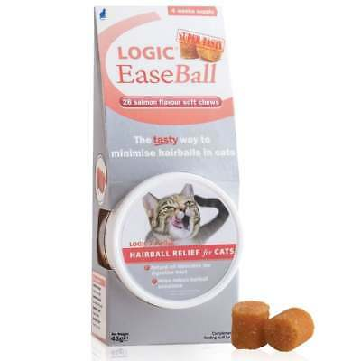 Logic EaseBall For Cats x 28 Soft Chews Salmon Premium Service Fast Dispatch