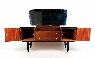 Retro Vintage Dressing Table Afromosia Twin Pedestal Dressing Chest 1960s 70s Vi