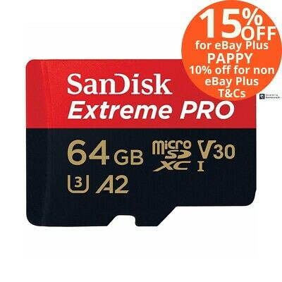 SanDisk 64GB Extreme Pro Micro SD Card SDXC 170MB/s Mobile Phone Memory Card