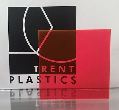 Pink Tinted Perspex Acrylic Plastic Sheet Cut to Size Tint Cast Coloured Transpa