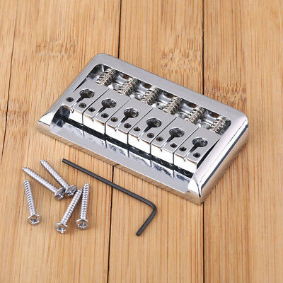 Chrome Electric Guitar Hardtail Top Load Bridge 6 String Fixed Hard Tail Parts
