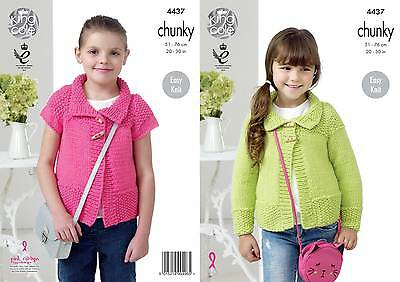 KINGCOLE 4437 CHILDS CHUNKY KNITTING PATTERN  24-30IN -not the finished garments