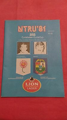 Northern Transvaal v Transvaal 1981 Rugby Programme