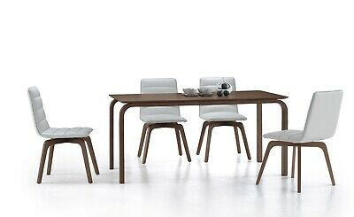 Modern Scandinavian Retro Dining Set Table With 6 Chairs Furniture - Volente