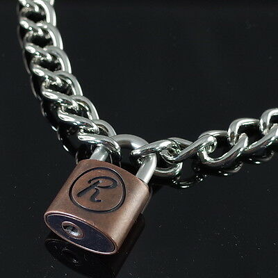 Padlock Lock R Pendant Charm Sex Pistol Rabbit 50cm Choker Chain (NEW)