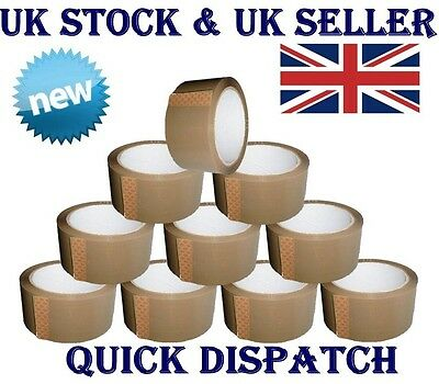72 Rolls STRONG Brown buff Parcel Packing Tape packaging box sealing 48MM x 66M*
