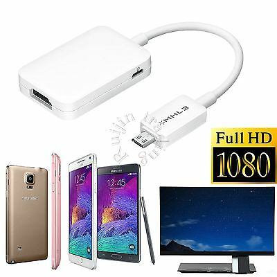 Samsung MHL HDMI HDTV Adapter Micro USB Cable for Galaxy S5 S4 S3 Note2 3 4 Tab