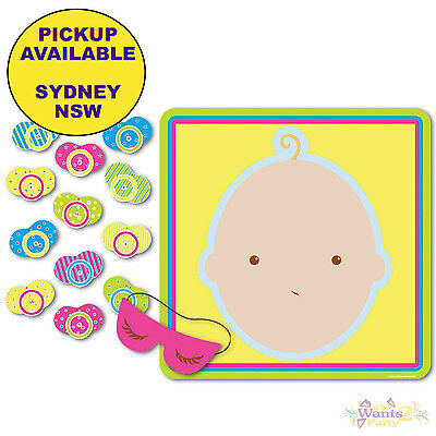 Baby Shower Party Supplies Pin The Dummy Pacifier Fun Activity Game Decorations
