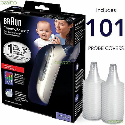 Braun ThermoScan 7 6520 Baby Professional Digital Ear Thermometer 101 Lens Cover