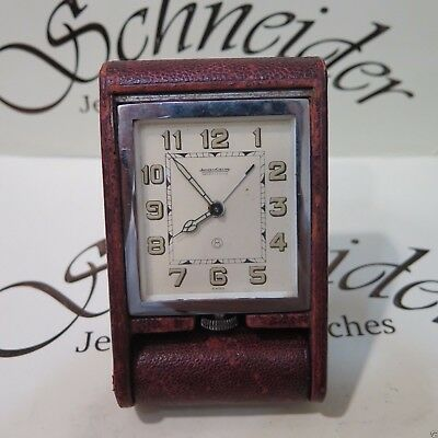 Vintage Genuine Jaeger LeCoultre travel alarm desk clock 8 days Manual Wind
