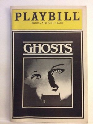 Playbill Ghosts at Brooks Atkinson Theatre September 1982! Very Clean!