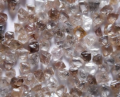 1MM to 1.50MM 25-35 Diamond per Carat Rough Octahedron Brown Brut Roh Diamant