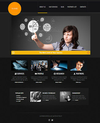 Template Website Responsive Mobile Website Business Wordpress Template Design