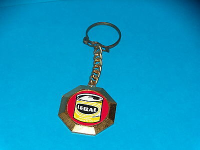 Porte cle - CAFE LEGAL - ROUGE -  METAL - ANNEES 1960