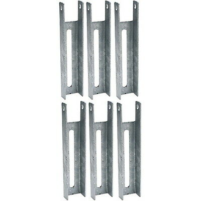 6 Pack 8 Inch Boat Trailer Hot Dipped Galvanized Adjustable Bunk Board Brackets