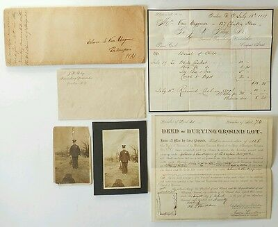 1890 Elmer Van Wagner Hyde Park NYC Policeman Burying Lot Deed Child Burial