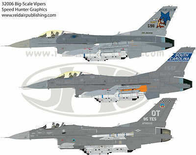 Speed Hunter Graphics 32006 1/32 decal F-16 Heritage Vipers for Tamiya