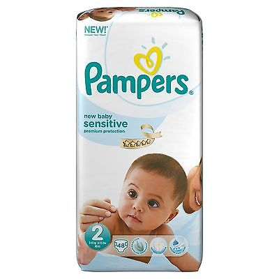 Pampers New Baby Sensitive Size 2  Mini  Essential Pack, 48 Nappies