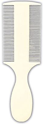 Plastic Flea & Dust Comb with Handle Double Sided Flea Comb for Dogs & Cats