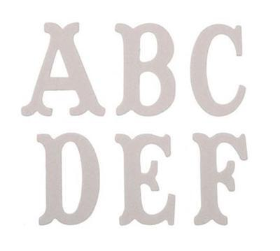 CHIPBOARD Letters ALPHABET Raw 3 inch - 26pc Mixed Media Wall Art Home Decor