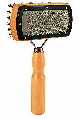Soft Dog & Cat Brush Double Sided Wooden Grooming Brush 10 x 18cm