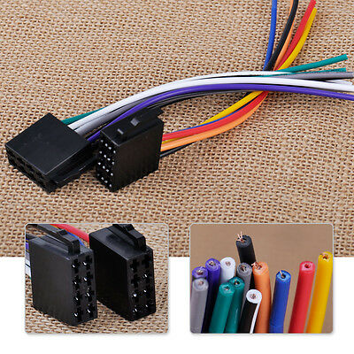 Female Universal ISO Wire Harness Adapter Connector Cable for Car Stereo System