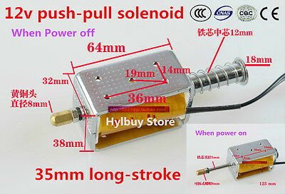 35mm long-stroke push-pull solenoid DC12v small electromagnetic Electric Magnet