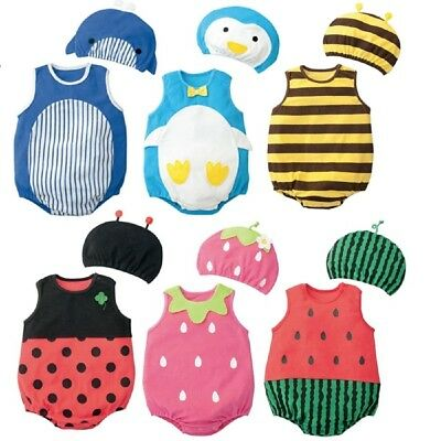 Baby Toddler Boy Girl Animal/Fruit Carnival Fancy Dress Party Costume Outfit Set