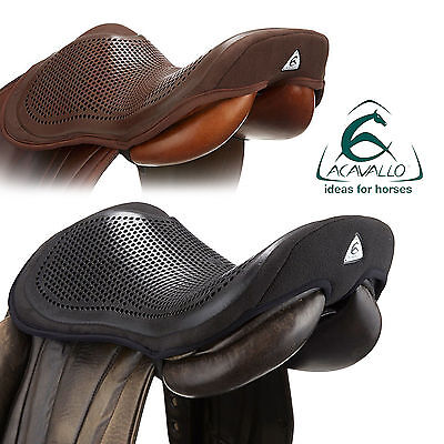 ACAVALLO GEL OUT SEAT SAVER Non-Slip Secure Saddle Safety Gel Black/Brown S/M/L