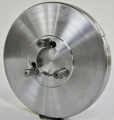 "8-1/4"" Lathe Chuck Adapter Plate D1-3 Spindle Mount Taper Plain Back USA"
