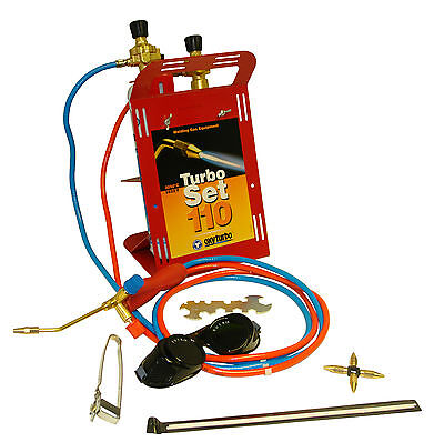Oxyturbo Set 110 Portable Gas Welding & Brazing Kit C/W OxyTurbo Gas Cylinders