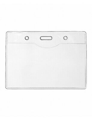Wholesale BUDGET Clear ID Card Badge Holder Pouchs Enclosed Double Side 10 x 7cm
