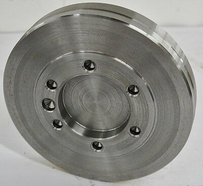 "8-1/2"" Lathe Chuck Adapter Plate A2-5 Spindle Mount Taper Plain Back USA"